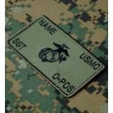 Personnalisés vert Marines Combat Id plaquées