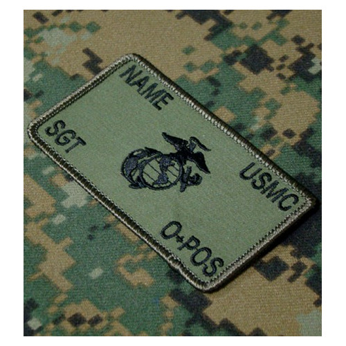 Custom olive USMC Combat Id patch