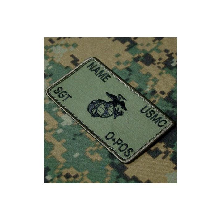 Parche de combate identificativo personalizado de los Marines en verde