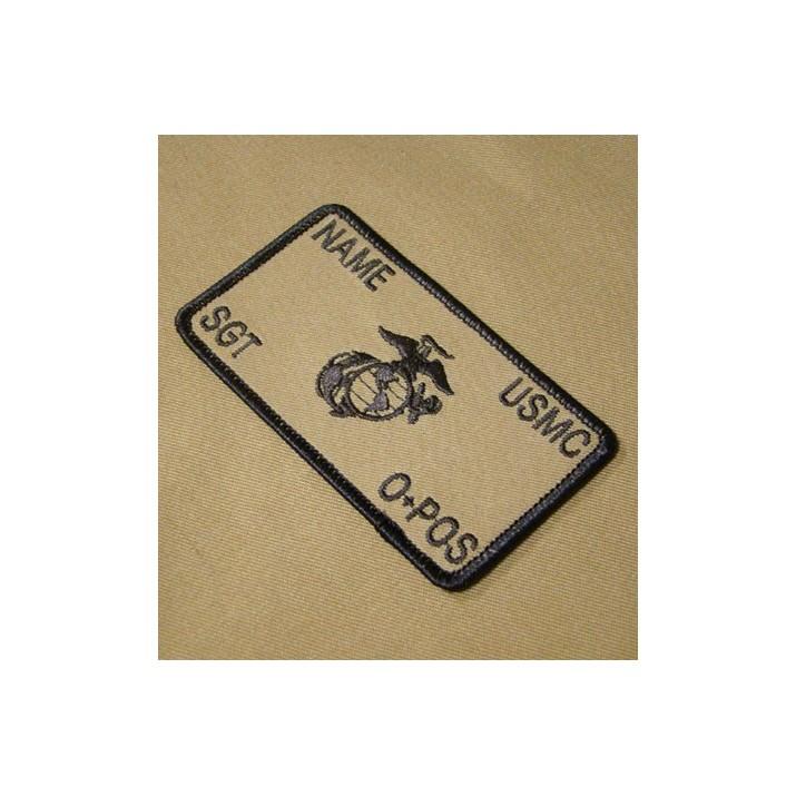 Parche de combate identificativo personalizado de los Marines en tan / árida