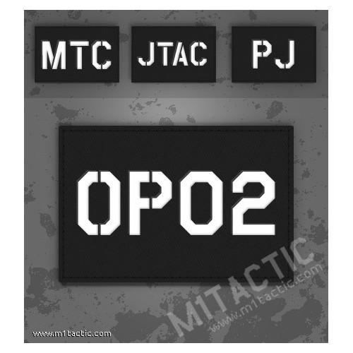 Parche de operador identificativo / callsign personalizado en Negro (SWAT)