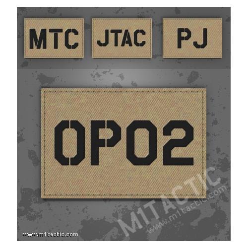 Parche de operador identificativo / callsign personalizado en árido/tan