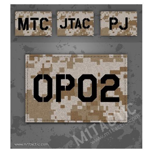 Parche de operador identificativo / callsign personalizado en Desert Marpat