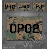 Parche de operador identificativo / callsign personalizado en Marpat