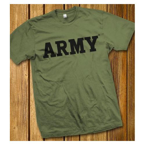 Camiseta verde militar ARMY - Ejército de los Estados Unidos
