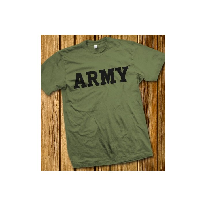 Olive Drab ARMY Block T-shirt