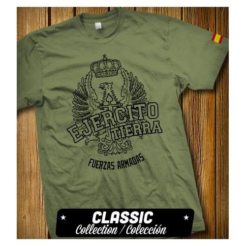 Camiseta verde militar del Ejército de Tierra de España