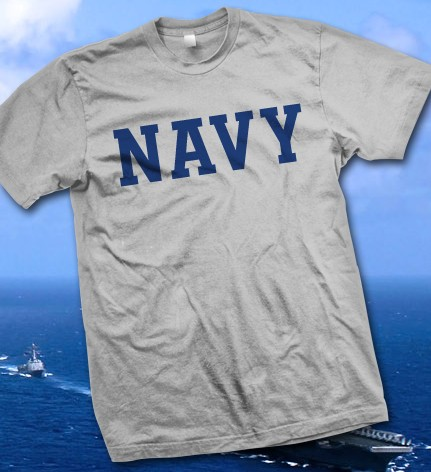 U.S. Navy - United States Navy Grey T-Shirt