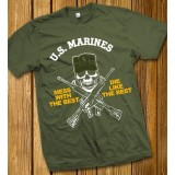 "US Marines T-Shirt ""Mess with the best - Die like the rest"""