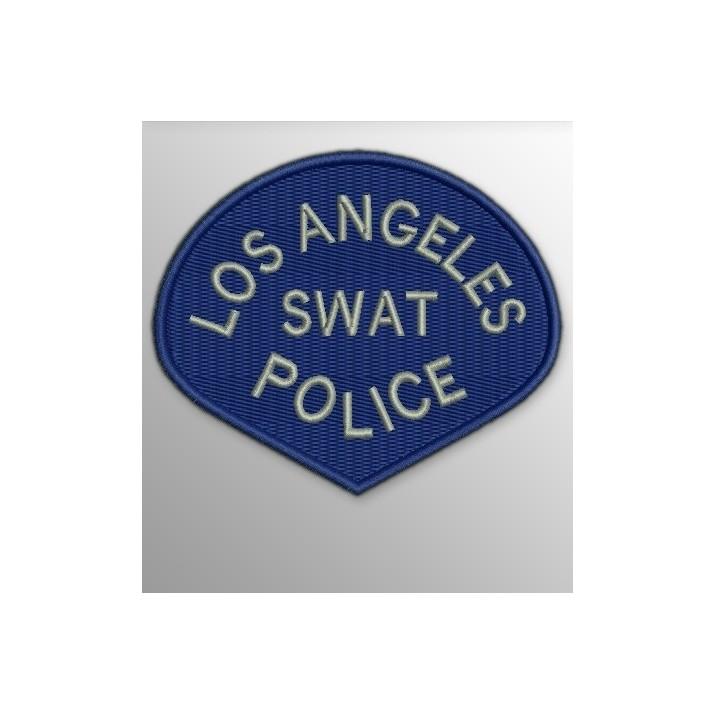 Parche Los Ángeles SWAT Police Azul-Gris