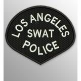 Parche Los Ángeles SWAT Police Negro-Blanco