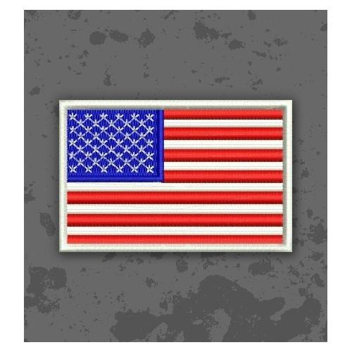Bandera USA Color Original Borde Blanco