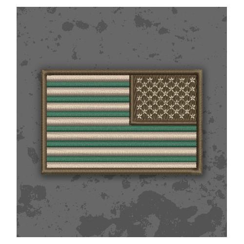 Bandera USA Forest/Woodland Invertida