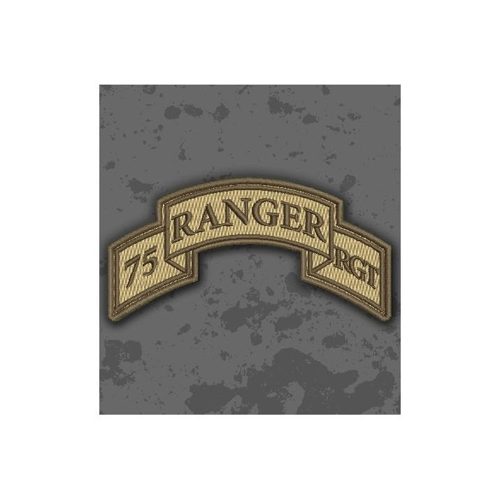 Parche 75th Ranger Regiment (Airborne) Árido/TAN