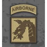 Parche 18th Airborne Corps Árido/TAN