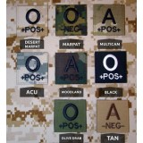 Militaire Blood Type Patch (divers camouflages)