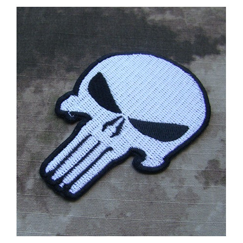 Punisher Patch (White)