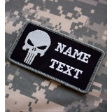Parche de combate personalizado Punisher negro swat