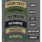 Personnalisable Patch onglet Texte dans divers camouflages