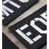 Parche de operador identificativo / callsign personalizado en Negro (Reflectante)