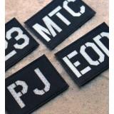 Personnalisée identifiant d'opérateur / callsign de Patch Noir (SWAT)