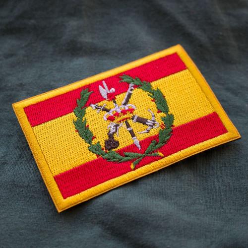 Drapeau Légion espagnole 100% brodé Patch