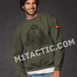Sweat-shirt vert armée espagnole