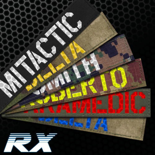 Name Tape RX personnalisée réflecteur