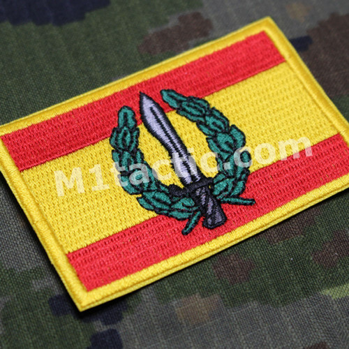 Embroidered Spain flag patch