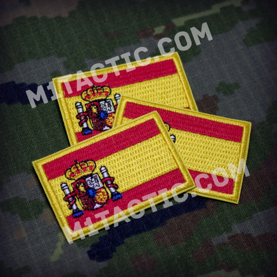 Embroidered Spain flag Patch - Small