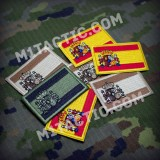 Embroidered Spain flag Patch - Small - Olive Drab