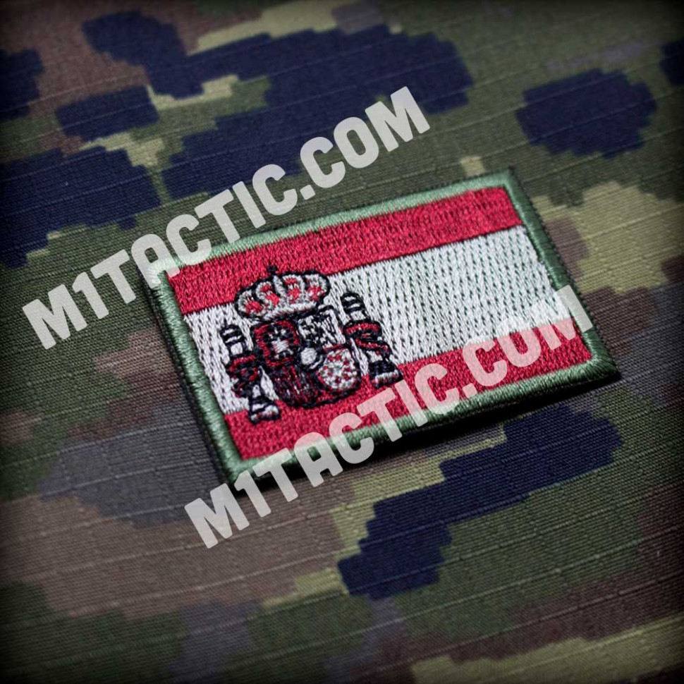 Embroidered Spain flag Patch - Small - Low Visibility