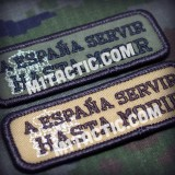 "Embroidered Patch ""A España Servir Hasta Morir"""