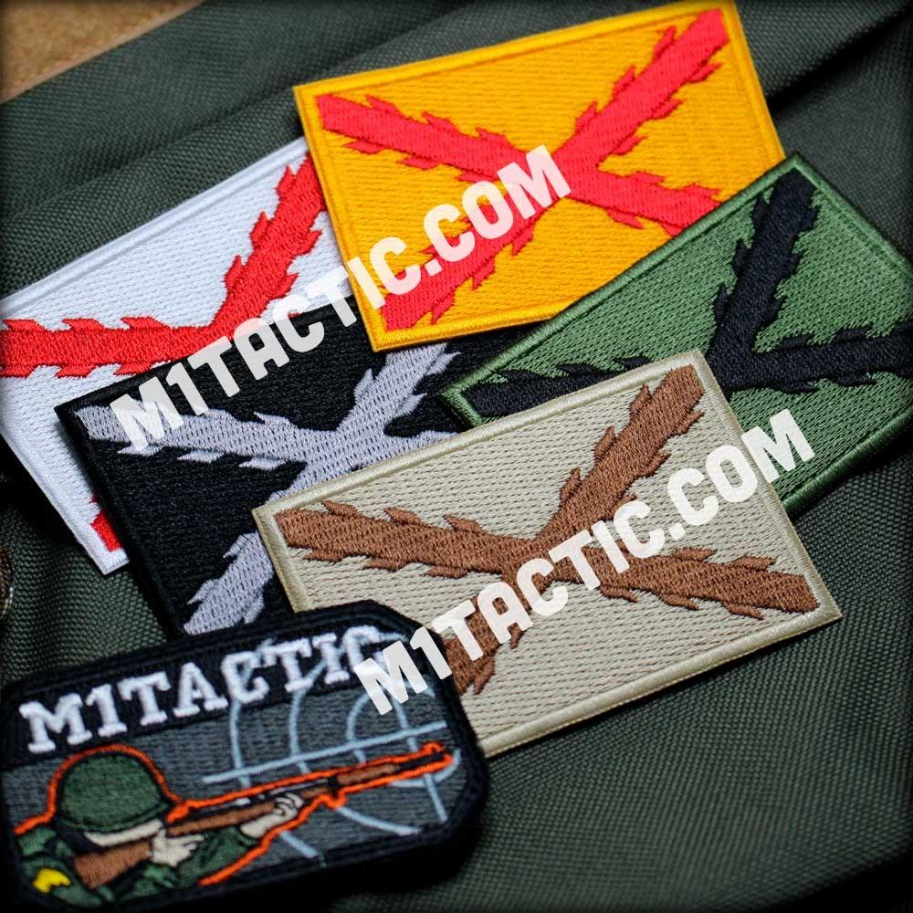 blanco Parche de la bandera de Espa/ña Tercio Morados Viejos Espa/ñol SWAT t/áctico militar Morale Emblema