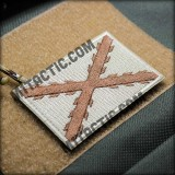 Cross of Burgundy Embroidered Patch - Brown Tones