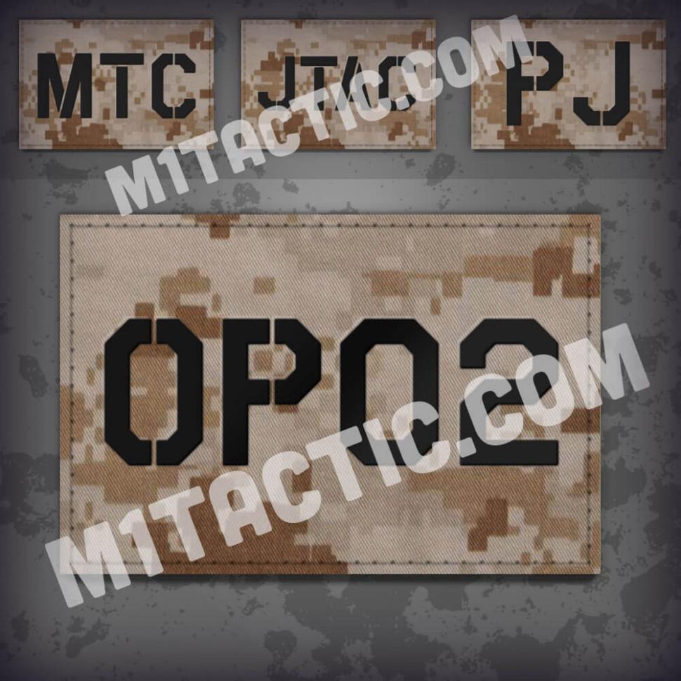 Personnalisée identifiant d'opérateur / callsign de Patch Desert Marpat