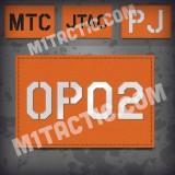 Parche de operador identificativo / callsign personalizado en Naranja