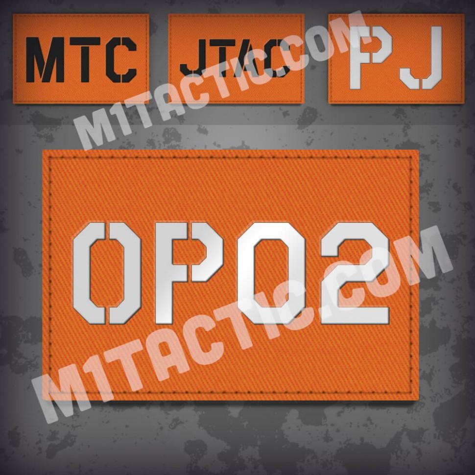 Custom Orange Call Sign Id patch