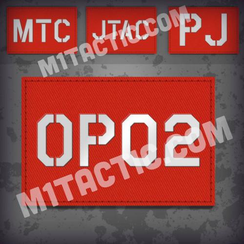 Parche de operador identificativo / callsign personalizado en Rojo