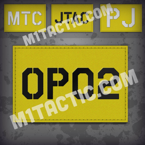 Custom Yellow Call Sign Id patch