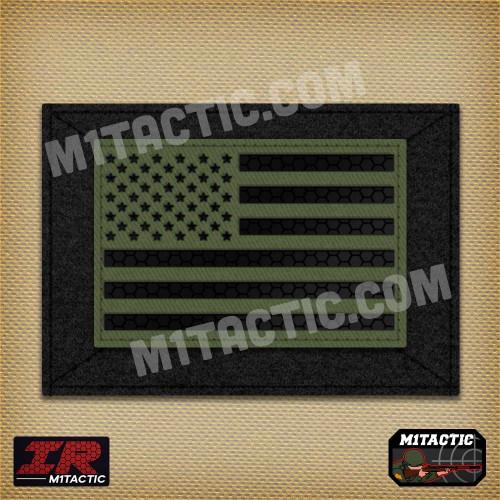 Bandera USA IR - Infrarrojos - Verde