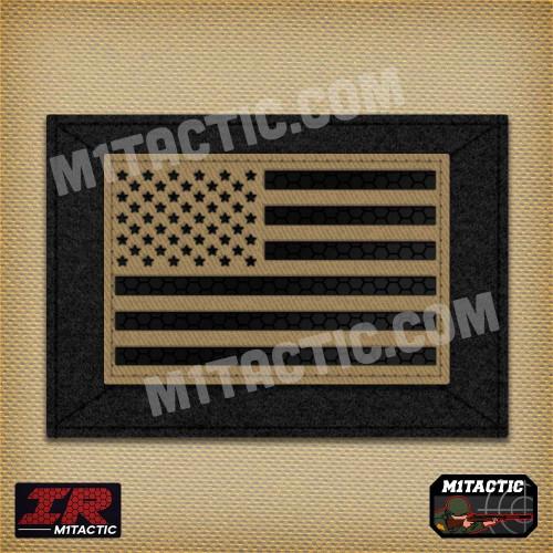 Infrared IR USA Flag - Tan/Arid