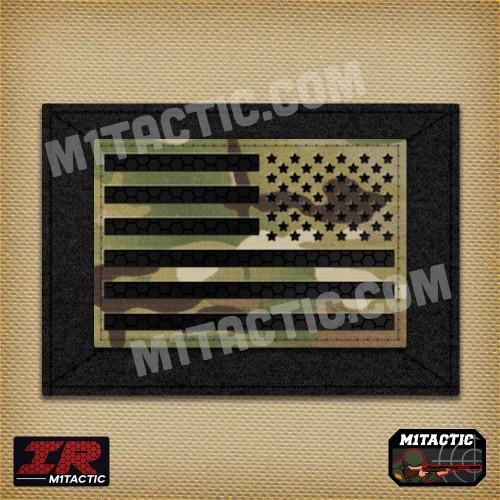Infrared IR Reverse USA Flag - Multicam