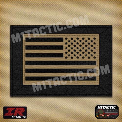 Reverse Infrared IR USA Flag - Tan/Arid