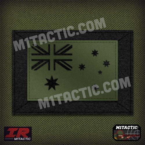 Infrared IR Australia Flag - Olive
