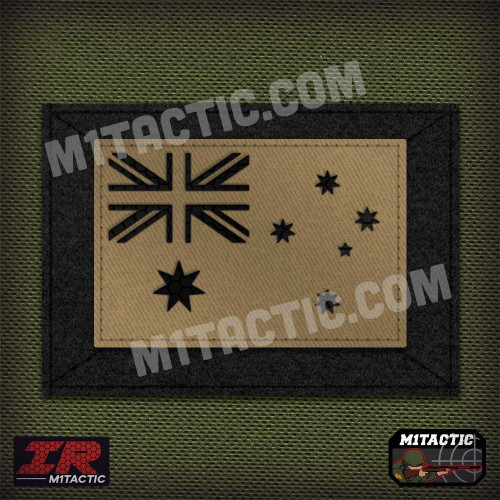 Infrared IR Australia Flag - Tan/Arid