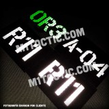 Custom Black Call Sign Id patch Airsoft