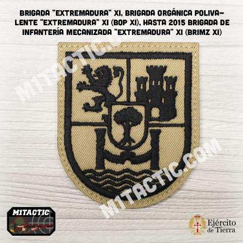 """Parche de brazo Brigada """"Extremadura"""" XI - BRIMZ - Árido / TAN"""