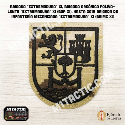 "Emblème / Patch Brigada ""Extremadura"" XI - BRIMZ - Áride Marpat"