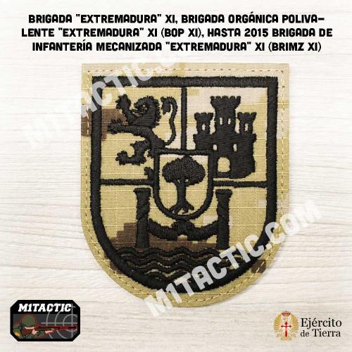 """Parche de brazo Brigada """"Extremadura"""" XI - BRIMZ - Árido Pixelado"""
